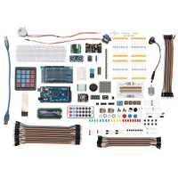 Juego de componentes electrónicos DIY con caja de plástico Kit de aprendizaje de inicio definitivo adecuado para Arduino MEGA 2560 LCD1602 Servo Motor
