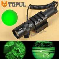 Greenbase táctico pistola linterna Combo alcance verde arma láser Luz luz de la noche caza visión para Rifle pistola ajuste carril Picatinny