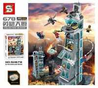 SH678 1209 pièces Superhéros Ironman Amélioré Vengeur Alliance Tour Bloc De Construction Briques Jouet Cadeau Jouet Compatible Avec Legoings