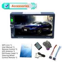 Coche reproductor Multimedia 7 pulgadas ISO Puerto Full HD 1080 P coche Bluetooth medios MP5 jugador GPS Navigator soy /FM/RDS Radio
