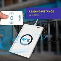 ACR122u NFC lector y escritor de 13,56 Mhz RFID copiadora duplicador inteligente sin contacto lector y escritor/USB + 5 piezas de la tarjeta UID + SDK