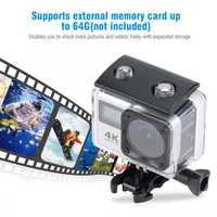 H3 al aire libre impermeable 30 m vídeo 4 K y 16MP fotos 30fps Dual pantalla WIFI cámara de gran angular de la cámara HD kit de