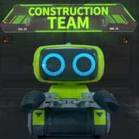 MODIKER de alta tecnología de programación inteligente RC Robot de Ingeniería de la carretilla elevadora RC de juguete de Interior de luz y música para niños programable juguete