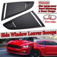 Nuevo 2 Unid del lado del coche ventana trasera cuarto de rejilla lado ventilación Deflector primicia para Ford Mustang 2015- 2017 2Dr para Coupe modelo