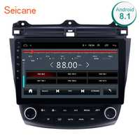 Seicane 10,1 Android 8,1 2Din Quad Core Radio de coche GPS reproductor Multimedia de la unidad para Honda Accord 7 2003 de 2004 2005, 2006, 2007,