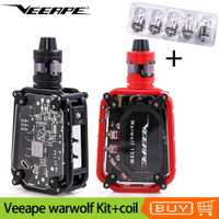 Original Veeape warwolf Vape Kit 150 w láser Vape Mod con atomizador cigarrillo electrónico Kit con 5 piezas 0.3ohm bobina la cabeza