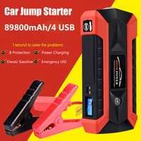 89800 mAh 4USB 12 V 600A LED Voiture Jump Starter Portable D'urgence Chargeur Batterie Power Bank Voiture Booster Dispositif de Démarrage étanche