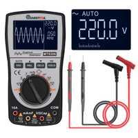 2 en 1 MT8206 inteligente Digital osciloscopio multímetro MUSTOOL actualizado analógico de grafico de barras de 200 k de alta velocidad/ D de muestreo