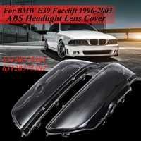 Par claro lente faro para cubierta BMW E39 Facelift 1996, 1997, 1998, 1999, 2000, 2001, 2002, 2003, 63128375301, 63128375302