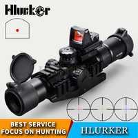 Hlurker táctico 1,5-30x30x30 caza vista óptica Rifle vista RMR ajustable punto rojo alcance telescopio para Rifle