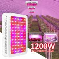 1200 W lleno espectro UV IR 120 LEDS planta hidropónica verduras crecer luz interior planta fruta flor lámpara crece la iluminación caja para jardín
