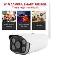 200 W 1920x1080 P cámara panorámica IR de seguridad al aire libre sistema de cámara 4LED impermeable Wifi Smart Sensor de seguridad para el hogar Cámara