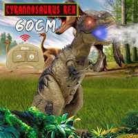 Spray de dinosaurio juguetes de RC a Spinosaurus para niños con luz y sonido directamente dinosaurio de Control remoto