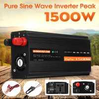 Onduleur solaire inversor solaire 1500W DC12V/24 V/48 V à AC220V convertisseur à onde sinusoïdale Pure pour onduleur ménage bricolage