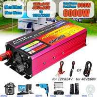 Onduleur solaire 12V 220V 1000W 6000W Pe ak convertisseur de tension transformateur DC 12V & 24V 48V & 60V à AC 110 V/220 V Auto adapter Inversor