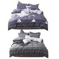 Nuevo 3 unids/set funda de edredón de algodón suave cómoda funda segura para cama de hogar telas de alta calidad cómodo conjunto de ropa de cama de moda