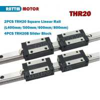De la UE. ¡de alta calidad! CNC 2 piezas 20mm cuadrado riel lineal de guía de TRH20 400mm/500mm/600mm/ 800mm y 4 piezas TRH20B Slider bloques