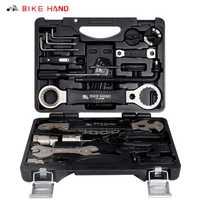 BIKEHAND YC-721 Kit d'outils de Service de vélo 18 en 1 boîte pour manivelle BB support de pédalier moyeu roue libre pédale rayon réparation de chaîne