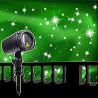 Proyector láser BEIAIDI al aire libre completo cielo estrella luz LED escenario hogar jardín centelleante estrella luz paisaje Navidad lámpara de césped