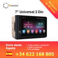 Ownice K1 Android 8,1 navegación GPS 2G RAM DVD 2 Din coche Radio BT USB Universal para Nissan Toyota VW Peugeot jugador apoyo 4G