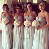 Vestido de dama de honor de encaje Salvia vestidos de fiesta largos de novia 2016 vestidos de boda Vestido de fiesta Longo Casamento Madrinha