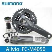 Shimano Alivio M4050 bicicleta manivela platos y bielas FC-M4050 rueda de cadena con BB Crank 170 de 175mm hueco tecnología piezas de bicicleta