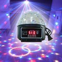 9 colores 27 W cristal BOLA MÁGICA llevó la lámpara de la Etapa 21 modos Disco láser proyector luces del partido luz sonido