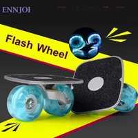 Skateboarding portátil bordo deriva Rodillos intermitentes para drift placa antideslizante monopatín deporte aluminio pedal flash pu rueda
