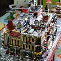 Lepinblocks Legoinglys creador experto City Street View 15005 15008 modelo bloques de construcción ladrillos regalo de Navidad juguete para niños
