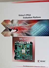 XILINX Original FPGA Placa de desarrollo HW-V5-ML501-G Virtex-5 XC5VLX50T evaluación Suite