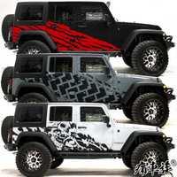 Autocollants de décoration de côté de corps de fleur de traction d'autocollant de voiture pour Jeep Wrangler