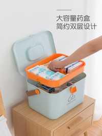 Caja de la medicina del hogar niño grande, kit de primeros auxilios portátil, médico de la Caja, plástico portátil Almacenamiento de medicina, gabinete de la medicina