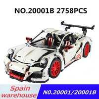 Técnica bloques 20001 20001B coche de carreras Compatible Legoing técnica 42056 bloques de ladrillos Barco de España