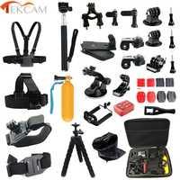 Juego de accesorios Tekcam para gopro hero 5 4 3 gopro sesión para SJCAM SJ4000 M20 xiaomi yi 4K PLUS eken h9 Sony cámara
