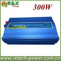 300 W inversor de la rejilla, de onda sinusoidal pura inversor de energía solar y eólica, 12 V/24 V DC a 100/110/120/220/230/240 V AC.
