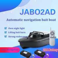 JABO 2AD RTR 2,4G RC cebo barco navegación GPS retorno automático barco de pesca con batería de 20A 10A Max juguetes de carga de cebo de 1,5 kg