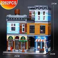 DHL 15011 2262 pièces série de construction le 10246 ensemble de bureau de détective Avengers ensemble assembler des blocs de construction jouets cadeau éducatif