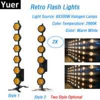 6X300 W Retro Flash luces de escenario Dj lavado efecto de luces DMX luces de iluminación profesional muestra equipos láser proyector