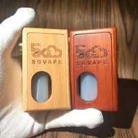 5 gvape madera mod squonk bf supercar caja mecánica diseño retro para batería 18650 con botella de squonk de 8 ml
