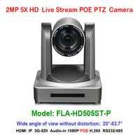2MP Full HD de vídeo Digital POE 1080 p cámara PTZ IP 5x Zoom óptico de 1920x1080 a 60fps HDMI 3G-SDI 83,7 grados de visión