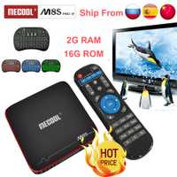 Mecool m8s pro w 2G 16G Smart tvbox android 7,1 S905W CPU 2,4 GHz WiFi 4 K H.265 top tv box soporte 2500 + España/Europa IPTV pk KM9