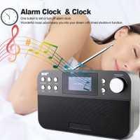 Mini portátil receptor de Radio Digital FM Radio con LCD Digital Snooze reloj despertador música al aire libre