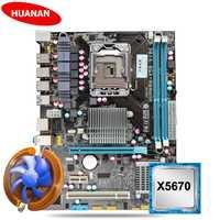 Nuevo HUANAN X58 placa base kit de CPU con enfriador de CPU USB3.0 X58 LGA1366 placa base CPU Xeon X5670 2,93 GHz 6 core 12 hilo