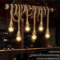LED cuerda luces colgantes loft restaurante araña suspendida lámparas salón iluminación café deco suspensión luminarias