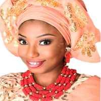 Dudo Dubai conjuntos rojo y oro nigeriano boda perlas para las mujeres 4 capas indio establece joyería envío gratis 2018