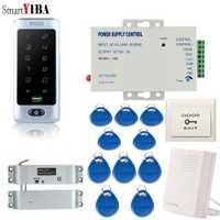 SmartYIBA RFID sistema de Control de acceso de la puerta táctil resistente al agua de teclado Control de acceso de la puerta de la cerradura de la puerta sistema de seguridad