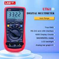 Multímetro Digital UNI-T UT61D de RMS verdadero Auto de la gama 6000 cuenta moderno multímetros digitales ACDC de CD de fondo