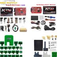 En línea V2.47 UE rojo Kess V5.017 OBD2 Manager Kit de ajuste KTAG V7.020 4 LED Kess V2 5.017 BDM marco K-TAG 7.020 ECU programador