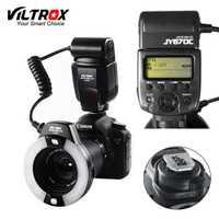 Viltrox JY-670C DSLR Cámara foto LED TTL anillo Macro Lite Flash Speedlite luz para Canon 1300D 800D 77D 5D marca IV 7D II 6D 80D