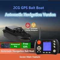GPS Piloto automático barco de pesca de Río 2CG 20A batería GPS seguimiento Sonar buscador de peces Control remoto RC cebo barco con bolsa gratis